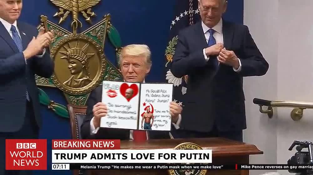 Enlace a Donald Trump admitiendo su amor por Putin