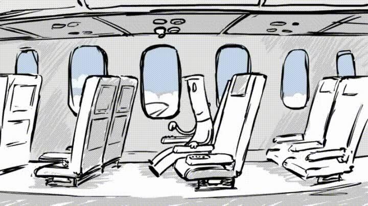Enlace a Nunca toques botones aleatorios en un avión