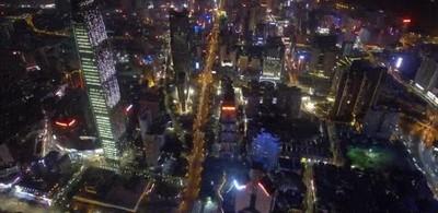 Enlace a Shenzhen de noche es todo un espectáculo