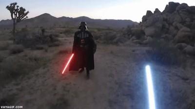 Enlace a Lo que se siente al pelear contra Darth Vader en primera persona