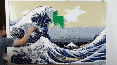 Enlace a 13,150 piezas de LEGO para recrear La Gran Ola de Kanagawa