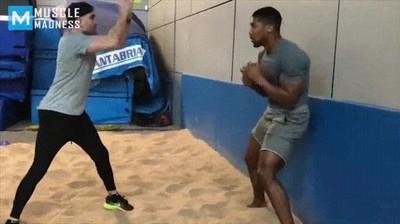 Enlace a Boxeador entrenando sus reflejos de forma espectacular