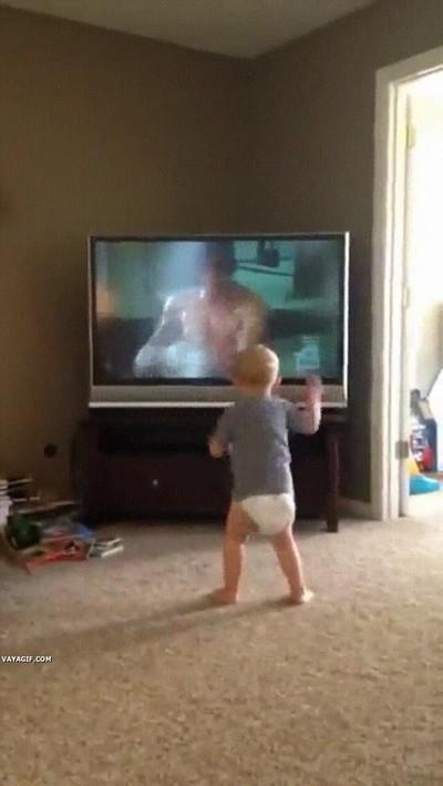 Enlace a Niños que han visto demasiadas veces la película de Rocky