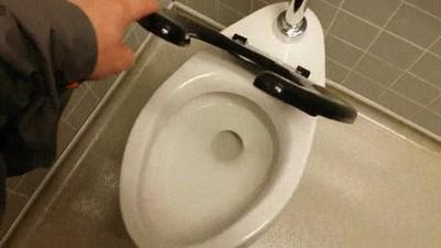 Enlace a Tapa de wc optimizada para los hombres con mala puntería