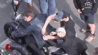 Enlace a Escectacular escena del rodaje de Mission Impossible 6