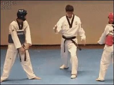 Enlace a Peleas de Taekwondo que acaban de la forma más rara