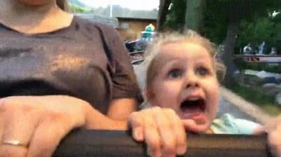 Enlace a La reacción de una niña de 3 años al subir por primera vez a una montaña rusa
