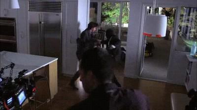 Enlace a Keanu Reeves grabando uno de los espectaculares combates de John Wick