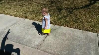Enlace a La adorable reacción de esta niña pequeña al enfrentarse a una sombra