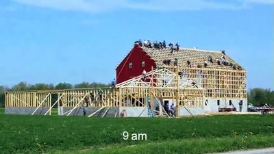 Enlace a Time-lapse de 10 horas en la construcción de una casa
