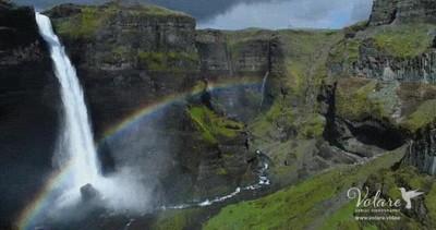 Enlace a Así se ve un arco iris a través de un dron