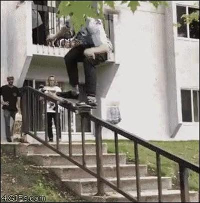 Enlace a Un skater con MUCHA suerte