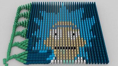 Enlace a Rick - Arte con fichas de dominó
