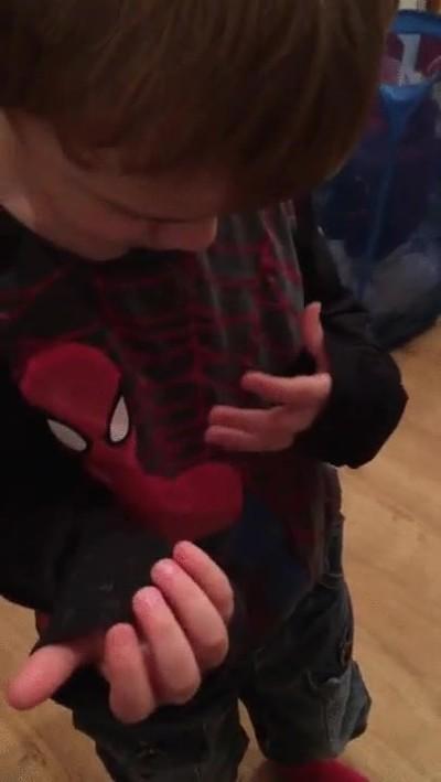 Enlace a No hay duda. Este chaval es el mayor fan de Spider-Man