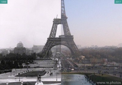 Enlace a Así ha cambiado la Torre Eiffel desde 1888 hasta 2017