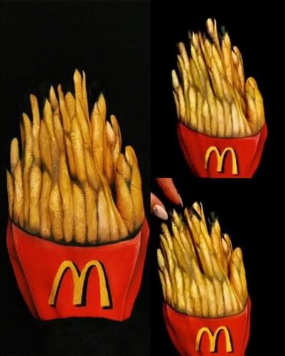 Enlace a Idea para Halloween este año. Disfraz de patatas fritas