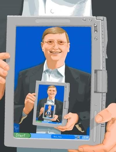 Enlace a Bucle de Bill Gates recreado en Microsoft Paint