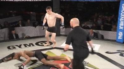 Enlace a Uno de los  KO más espectaculares en un combate de MMA