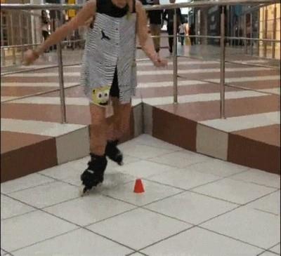 Enlace a Si eres buen patinador solo necesitas un cono para demostrar tus habilidades