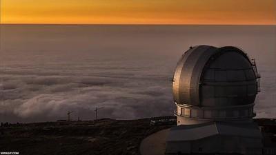 Enlace a Las preciosas vistas desde el Observatorio del Roque de los Muchachos