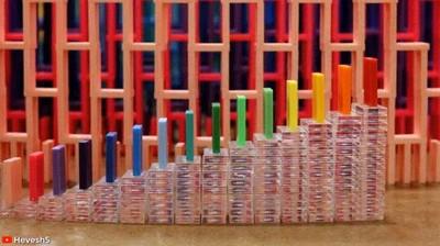 Enlace a Podría pasarme horas viendo fichas de domino caer