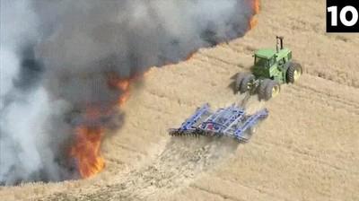Enlace a Un granjero de Colorado haciendo un cortafuegos de la forma más inteligente
