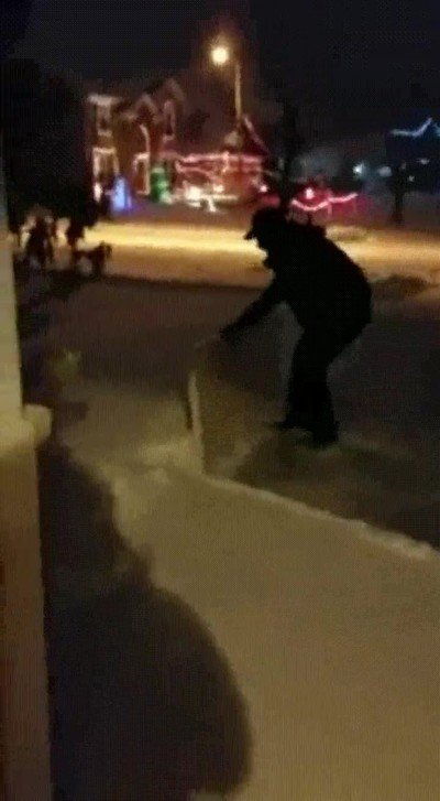 Enlace a Truco para limpiar nieve utilizando una mesa plegable