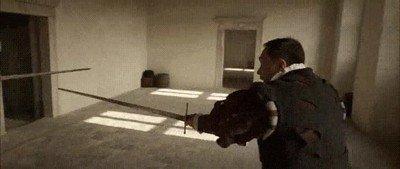 Enlace a Por fin un duelo con espadas realista