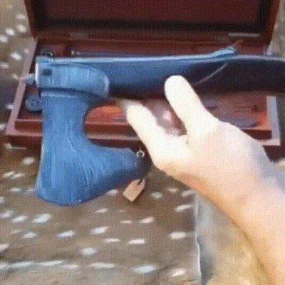 Enlace a Un hacha que también se convierte en escopeta