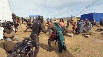 Enlace a Así se filmaron las escenas más espectaculares de Black Panther