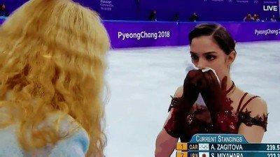 Enlace a Yevgenia Medvedeva buscando petróleo en las Olimpiadas
