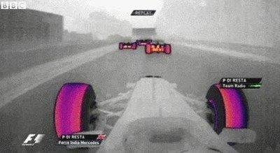 Enlace a Cámara térmica de un coche de Fórmula 1