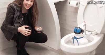 Enlace a Este robot portátil limpia el lavabo en un periquete