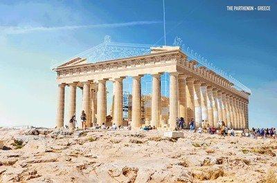 Enlace a Así sería el Partenon si estuviese restaurado
