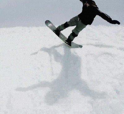 Enlace a Una forma inverosímil de hacer snowboarding