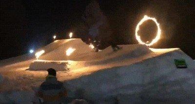 Enlace a Intentando saltar a través de un anillo en llamas. Y fracasando