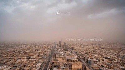 Enlace a Una tormenta de arena golpeando la ciudad de Riyadh la semana pasada