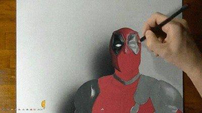 Enlace a Un dibujo de Deadpool de lo más realista