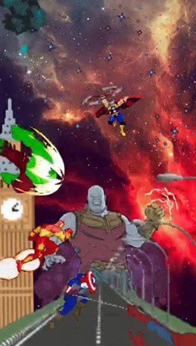 Enlace a GIF de Infinity War creado con la aplicación de Instagram