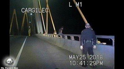 Enlace a Oficial de policía evitando un suicidio