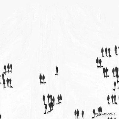 Enlace a Logo de Instagram creado con sombras de gente