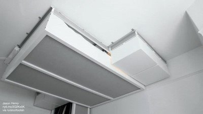 Enlace a Genial idea de colgar muebles en el techo para tener más espacio