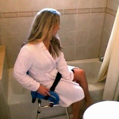 Enlace a Una silla que en caso de necesidad te transporta a la bañera