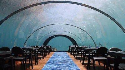 Enlace a Un restaurante debajo del agua en Las Maldivas