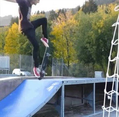 Enlace a Genial truco con el skate. La perfección existe
