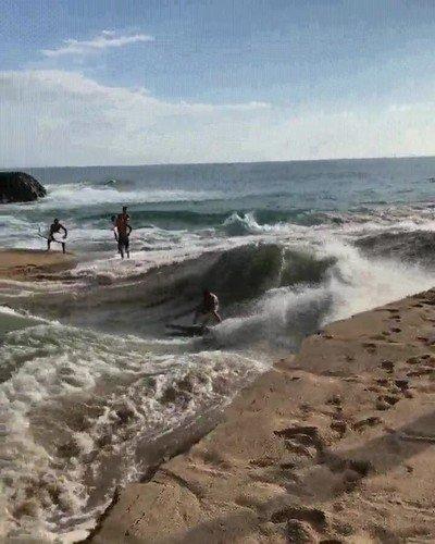 Enlace a El río Waimea en Hawaii es muy top para surfear