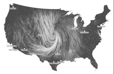 Enlace a Así se ve un mapa de vientos de los Estados Unidos