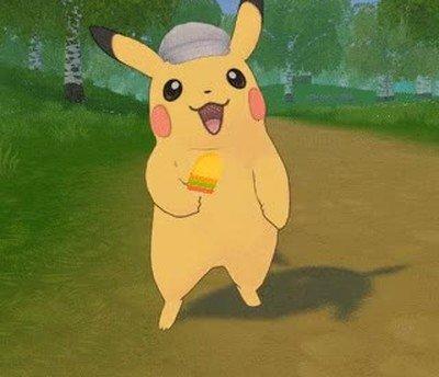 Enlace a Pikachu recreando lo doloroso que era que se te caiga el helado cuando eras pequeño