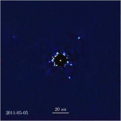 Enlace a Planetas orbitando una estrella en otro sistema solar