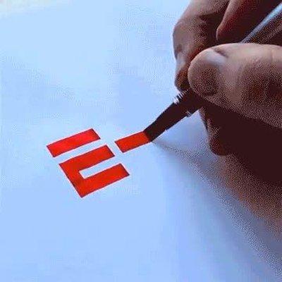 Enlace a Dibujo hipnótico del logo de la ESPN a mano